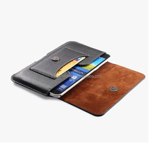 Two mobile phones leather case for Samsung Galaxy mege 6.3inch