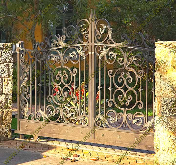 Strong wrought iron gates for security