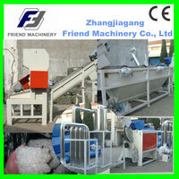 Waste plastic film foil recycling and washing machine with CE