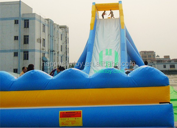 High quality PVC tarpaulin inflatable slip and slide, water slide for people
