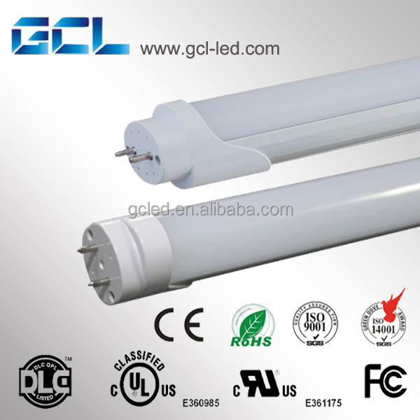 Clear Milky Stripy PC cover easy installation G13 base 1.2m T8 18W led tube light with UL ETL DLC Approval