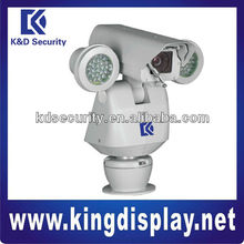 360 degree Monitor HAD CCD 100m IR PTZ Metal Camera with wiper function