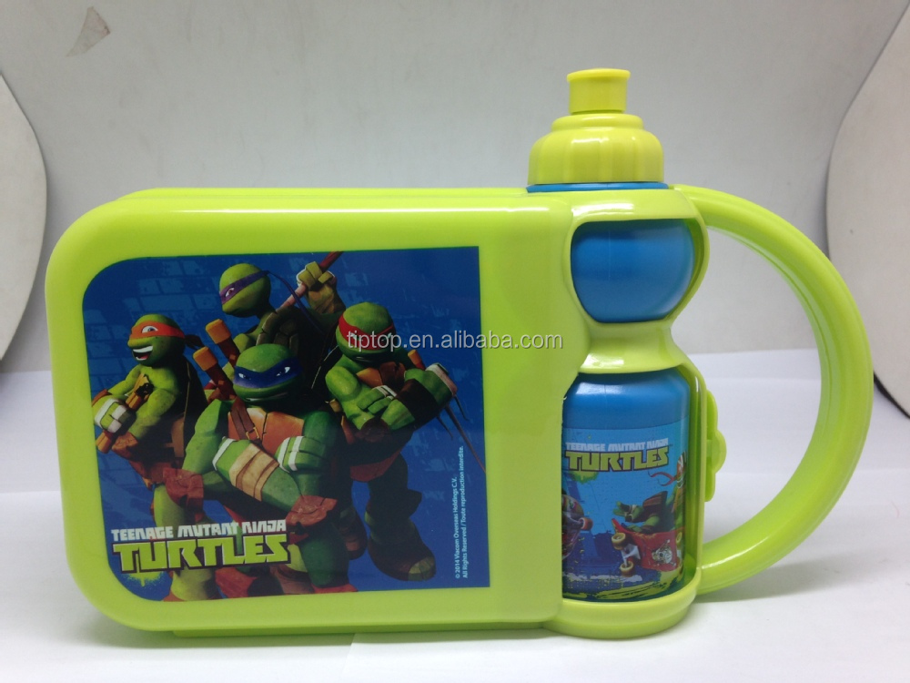 kids plastic lunch box set with handle