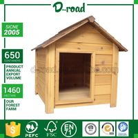 New Pattern Custom Printed Wooden Recycled Dog House For Outdoors With Door