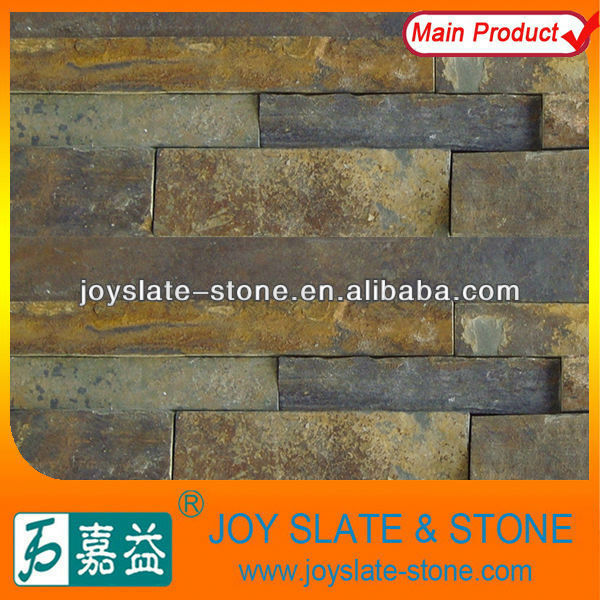 Rough brown stone wall paneling home depot