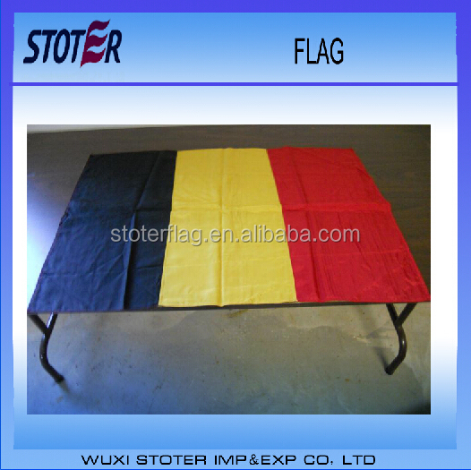 promotional soccer fan European cup 2016 100%polyester Belgian flag