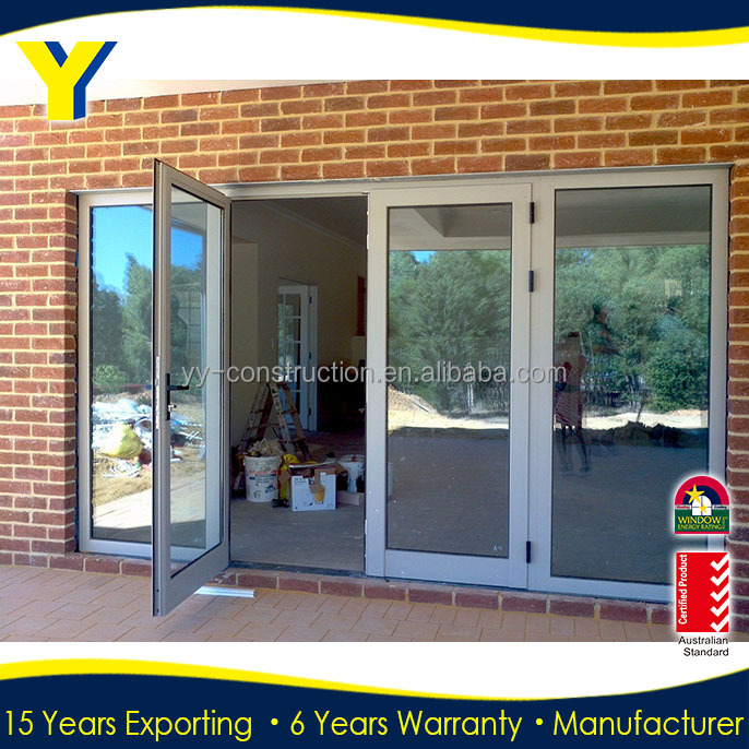 China Commercial Double Glass Doors And Lowes French Doors Exterior Comply With Australia