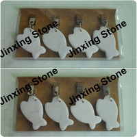 Set of 4 Fish Stone Marble Tablecloth Weights Tablecloth Clip
