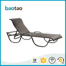 Plastic wicker sun chaise lounge swimming pool recliner chair