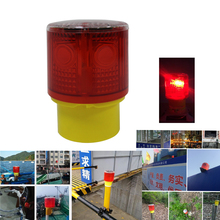 Waterproof Solar Powered Construction Road Work Pier Jetty Quay Safety Flashing Strobe Beacon Light