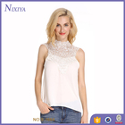 Fashion Lady Latest Designs Chiffon White Shirt