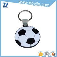 custom football shaped 3d pvc keychain for promotional