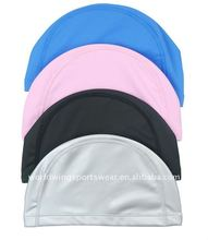 unisex polyester spandex swimming caps
