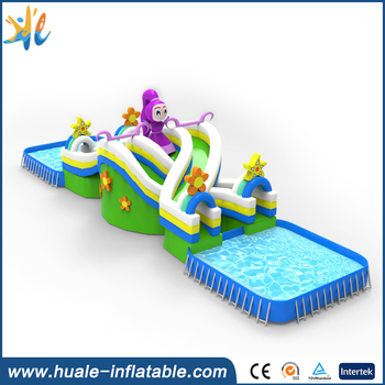 Hot sale customized outdoor inflatable portable water park, inflatable water park playground for sale