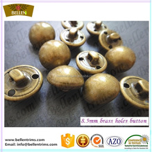 Half ball brass shank button