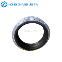 Tube connector bellow floating flange flexible rubber compensator