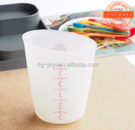 250ml silicone measuring cups kitchen measuring cup