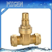 DN50,PN16, non rising stem,two-way brass gate valve