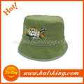 wholesale green kids custom korean fashion bucket hats