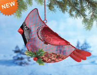 2015 Hanging Outdoor Cardinal Bird Feeder for Christmas decoration supplies