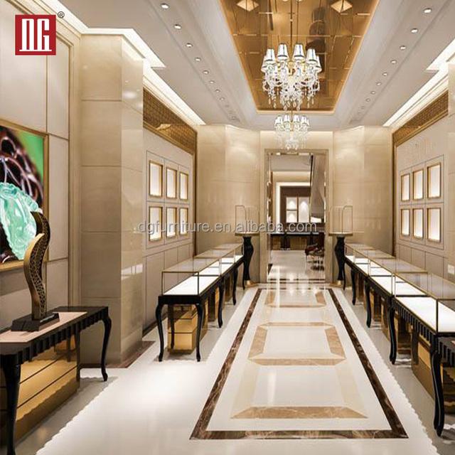 Profession Custom High End Luxury Jewelry Store Display Showcase Furniture Design Ideas