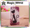 Cat Deluxe Cute Bling Rhinestone Phone Case For Iphone5s