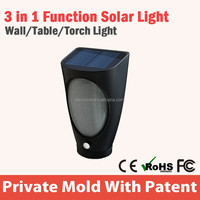 Multifunctional Surface Mounted Outdoor Garden Led Solar Wall Light