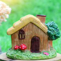 Nice design mini fairy garden house statue resin miniature house model decorative crafts and gifts