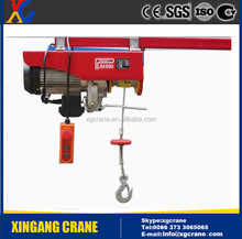 220v mini electric hoist winch/cable hoist with electric trolley