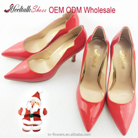 Wholesale OEM ODM brand handmade ladies leather high heel fashion shoes pumps 2016