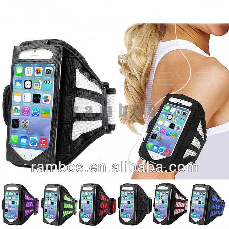 Mesh Running Sport Neoprene Armband Gym Mobile Phone Armband for iPhone 5S 5C 5