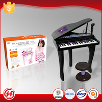 Good quality brands custom black musical instruments toy piano keyboard