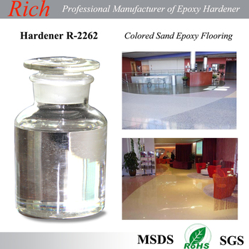 Concrete Floor Hardener,Solvent free Epoxy Flooring Coating Hardener R-2262 for Colored Sands Floor
