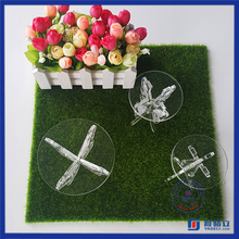 Good quality Clear custom acrylic cake stand or ice cream cart from gold supplier