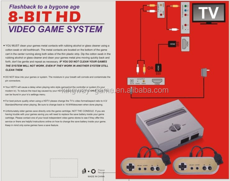 hamy 8 bit video game console HD 1080P