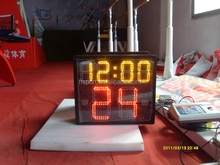 One-Side Scoreboard LED Electronic Digital Basketball with 24 second shot clock