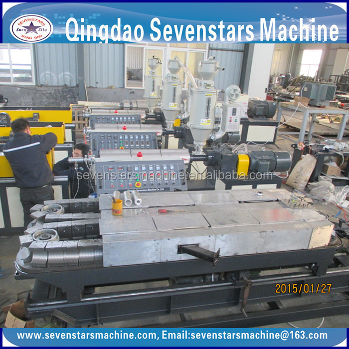 plastic pellet machine extruder for corrugated pipe machine