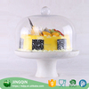 New product cake plate with dome cover round fruit tray