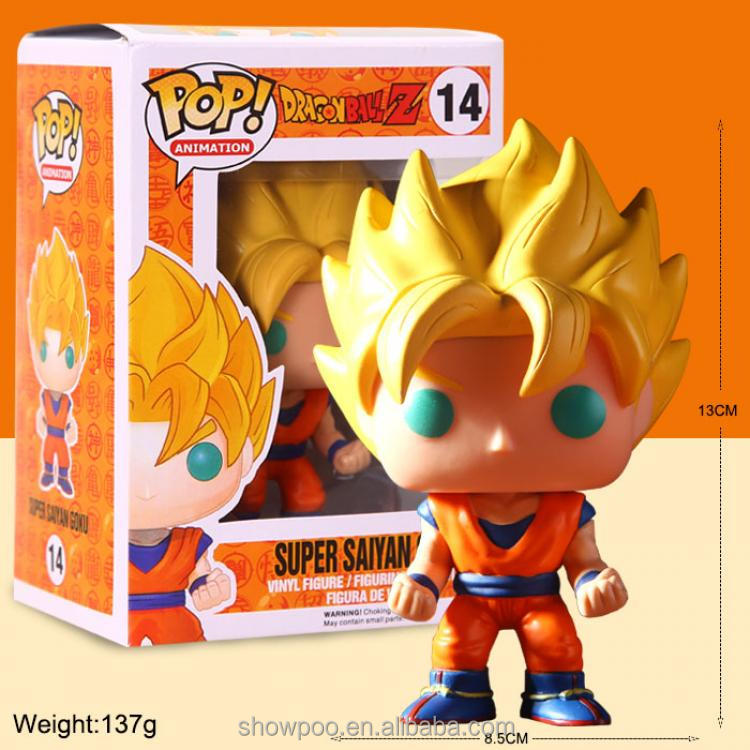 Factory Direct FUNKO POP Dragon Ball Q Goku Figure box packing 13 pvc figure