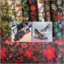 Beautiful flower design synthetic leather for shoes ,good quality from WENZHOU HONGDELI