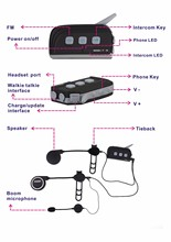 1000 meters Bluetooth headset 4 riders intercom in full of duplex mode wireless motorcycle intercom system compete sena headset