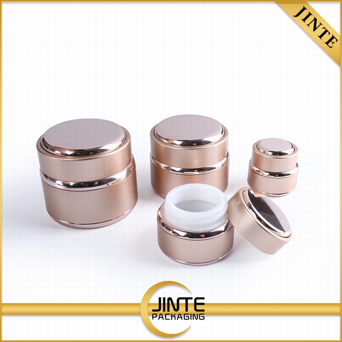 High Quality pink aluminum cosmetic jar for 5g 15g 30g 50g nail UV gel container jar