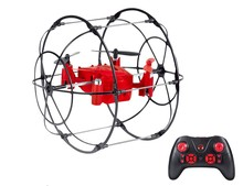 2.4G 4 Axis RC Quadcopter Climbing Wall UFO Drone with Net Protective Cover RTF