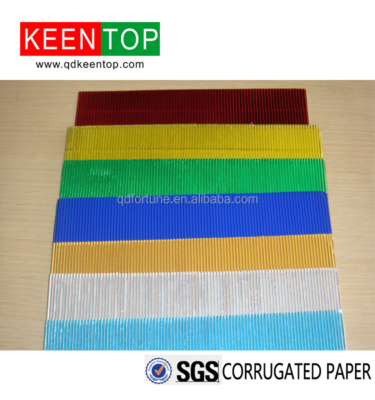 colorful 120g E wave corrugated paper