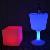 Portable wholesale unique bar table furniture /light up led bar table for garden LTT-BS01B