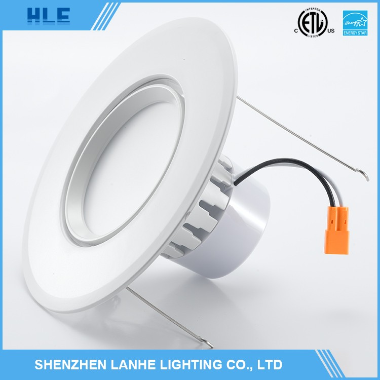 Shenzhen adjustable led downlight 6 inch trimless katalog lampu downlight led