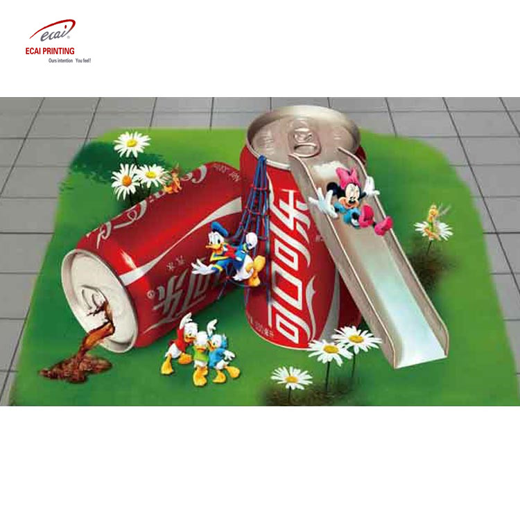 China wholesale custom printing 3D vinyl decal advertising floor sticker for promotion