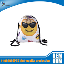 best selling emotional printed any logo backpack cute Children school bag foldable shopping bag