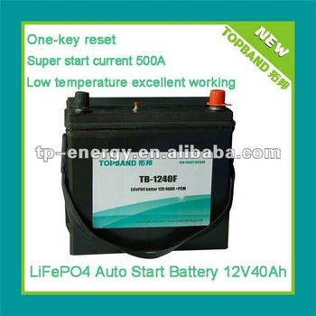 New arrival!!! Lithium ion phosphate car start battery 12V 40Ah with BMS protection