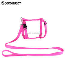 Pretty Pink Color No pull H-style Pet Dog Harness With Soft Nylon